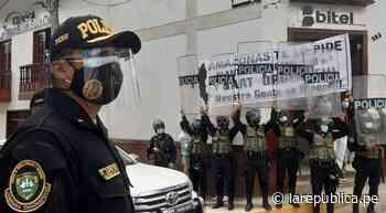 Chachapoyas: PNP ocultó con escudos pedido de oxígeno en visita de Sagasti - LaRepública.pe