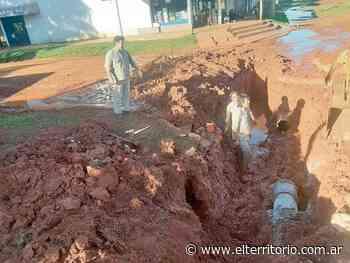 Candelaria se quedó sin agua tras la rotura de un caño - EL TERRITORIO
