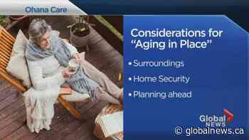 Tips to help you 'age in place'