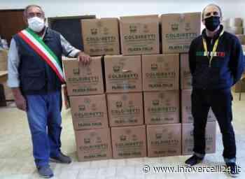 Pacchi solidali: Coldiretti consegna 750 chili di cibo al Comune di Tricerro - InfoVercelli24.it