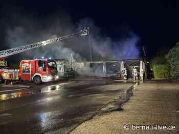 Großbrand in Ahrensfelde - Polizei sucht dringend nach Zeugen - Bernau LIVE
