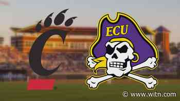 No. 11 ECU and Cincinnati split Friday doublheader - WITN