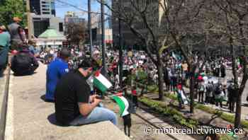 Hundreds protest for the 'liberation of Palestine' in Montreal
