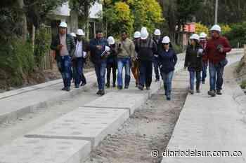 Inspeccionan avance de obras en Guachucal - Diario del Sur