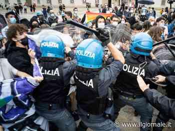Corte anti Ddl Zan, insulti a Salvini:scontri polizia-centri sociali