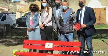 Saint-Chamas : un banc pour dénoncer les violences conjugales - La Provence