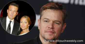 Matt Damon 'Wouldn't Be Surprised' With Ben, J. Lo Engagement - inTouch Weekly