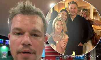 Matt Damon has a beer and a flutter at 10am while visiting a Brisbane pub - Daily Mail