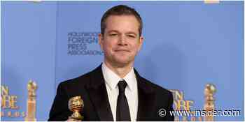 Matt Damon says the world doesn't need to 'mourn the death' of the Golden Globes after diversity criticism - Insider