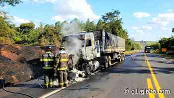 Incêndio em caminhão mobiliza o Corpo de Bombeiros na Rodovia Assis Chateaubriand - G1