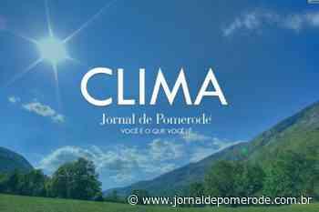 Semana começa com sol e temperaturas amenas, em Pomerode - Jornal de Pomerode