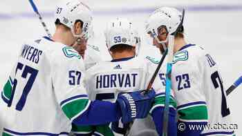 Canucks ride big 3 period to foil Oilers' final playoff tune-up