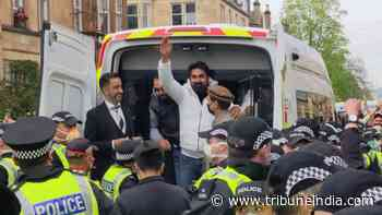 Watch: 2 Punjabi men freed from detention in Scotland after neighbours swarm streets in protest - The Tribune India