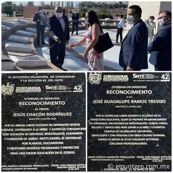 Incorporan a Jesús Chacón Rodríguez y José Guadalupe Ramos Trevizo a la Rotonda de los Maestros Ilustres - El puntero