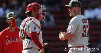 Angels acquire reliever Hunter Strickland, but skid continues with loss to Red Sox