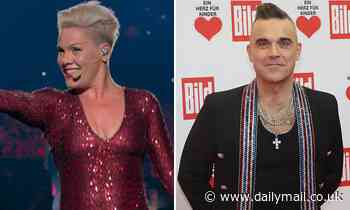 BAZ BAMIGBOYE: Pink and Robbie Williams star in up-close films by The Greatest Showman director - Daily Mail