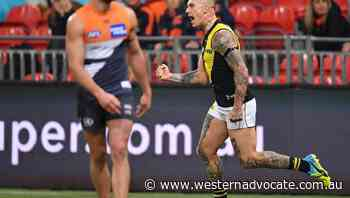 Dusty fires for Tigers in AFL thriller - Western Advocate
