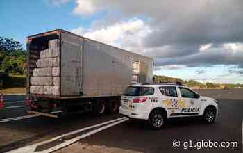 Motorista de caminhão é preso com carga de produtos contrabandeados em Itatinga - G1