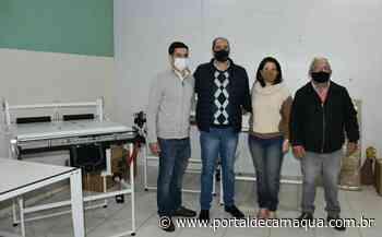 CRAS Pindorama recebe máquinas para fabricar fraldas, em Jaguarão - Portal de Camaquã
