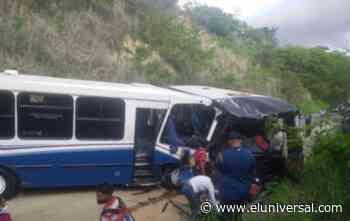 Colisión entre dos vehículos en Charallave deja 12 personas heridas - El Universal (Venezuela)