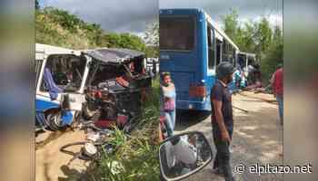 Seis personas resultaron heridas por choque entre unidades de transporte en Charallave - El Pitazo