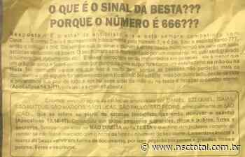 Panfletos apocalípticos intrigam moradores de Orleans e polícia busca autores - NSC Total