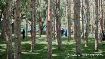 Maya Lin installs Ghost Forest of dead trees in Midtown Manhattan - Dezeen