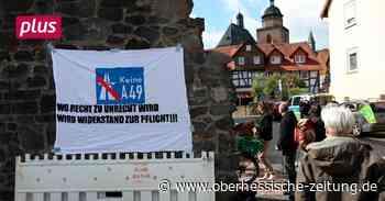 Alsfeld Wegen 100 Euro: Demo von A 49-Gegnern an Amtsgericht Alsfeld - Oberhessische Zeitung