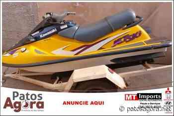 PM apreende jet ski furtado na zona rural de Monte Carmelo durante Operação Campo Seguro - Patos Agora