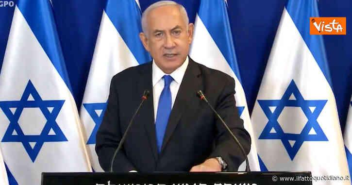 """Israele, Netanyahu: """"Risponderemo con forza agli attacchi finché il nostro popolo non sarà al sicuro"""" – Video"""