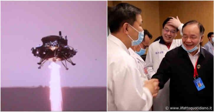 """Il rover cinese Zhurong atterra su Marte dopo i """"sette minuti di terrore"""", la gioia degli scienziati – Video"""