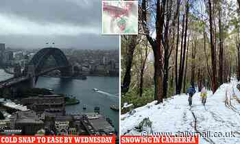 Freezing cold snap will last until WEDNESDAY after an Antarctic front swept across Australia