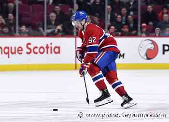 Jonathan Drouin Not Expected To Return During The Playoffs - prohockeyrumors.com