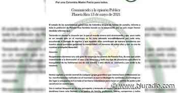 Desmeritan panfleto amenazante contra cinco jóvenes en el municipio de Planeta Rica, Córdoba - Blu Radio