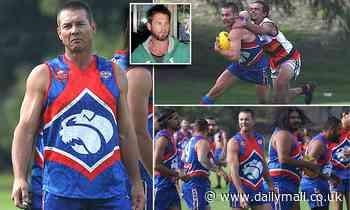 Ben Cousins flaunts his bulging muscles as he makes sensational footy comeback