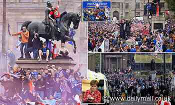 Sturgeon condemns 'disgraceful' Rangers fans who 'rampaged' through Glasgow to celebrate title win