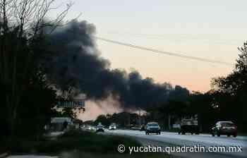 Incendio en la carretera Mérida-Tixkokob - Noticias de Yucatán - Quadratín Michoacán