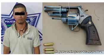 Detienen a hombre en La Rinconada de la Cruz, en Hermosillo, por traer pistola y ya cargada - Proyecto Puente
