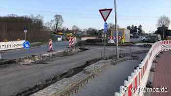 Baustelle und Sperrung: Chausseestraße in Marwitz ab 17. Mai wegen Bauarbeiten am Kreisverkehr gesperrt - moz.de