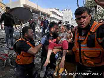 Israel-Gaza live: Airstrikes kill 42 Palestinians in deadliest attack so far as ceasefire efforts step up