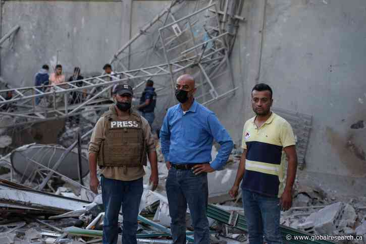 In Pictures: Aftermath of Israel Strike on Gaza Building Used by Media Outlets