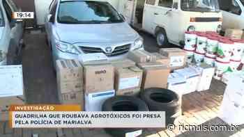 Quadrilha que roubava agrotóxicos foi presa pela polícia de Marialva - RIC Mais