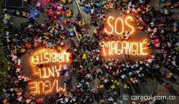Jóvenes se unieron al paro con una 'velatón' en Magangué, Bolívar - Caracol Radio