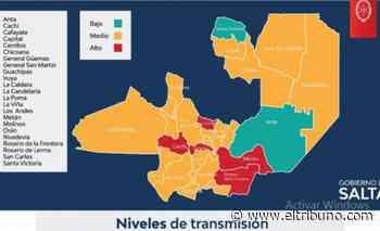 Mapa de riesgo sanitario en Salta: solo Anta y Santa Victoria están en categoría de bajo riesgo - El Tribuno.com.ar