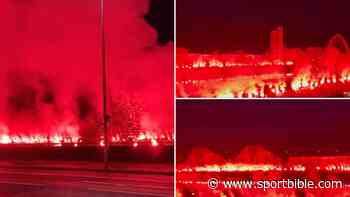 Insane Footage Of Rangers Fans Lighting Up The River Clyde Ahead Of Scottish Premiership Crowning - SPORTbible