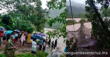 Familias incomunicadas tras colapso de puente, en Misantla - Vanguardia de Veracruz