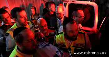 Two killed and 100 injured after West Bank synagogue grandstand collapses
