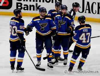 Blues may be without Perron for Game 1 against top seed Avs