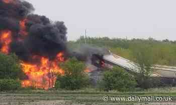 BREAKING NEWS: Evacuation ordered following train derailment and fire in Iowa