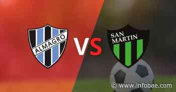Comenzó el segundo tiempo y Almagro está empatando con San Martín (SJ) en el estadio Tres de Febrero - infobae